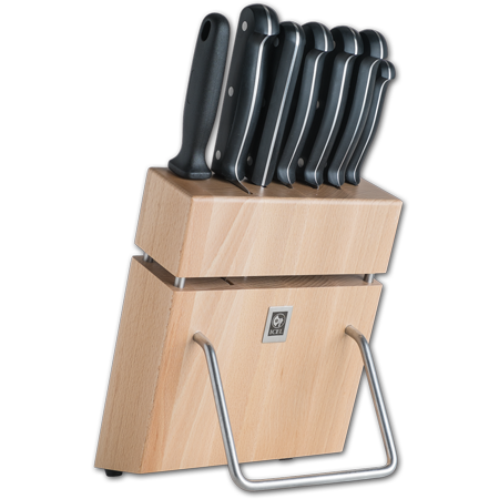 7 Piece Knife Block with Full Tang POM Technik Series Knives