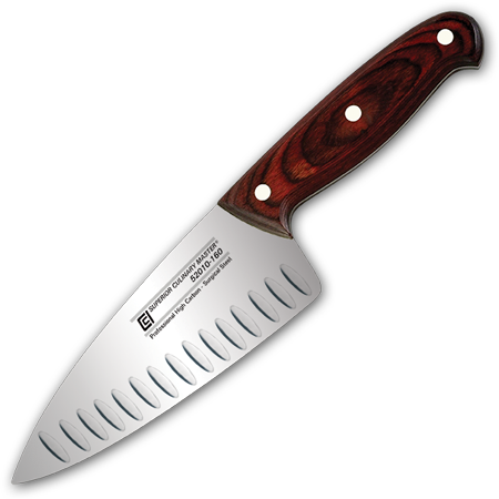 "6"" Chef's Knife, Granton and Wide Blade"