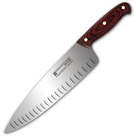 "10"" Chef's Knife, Granton and Wide Blade"