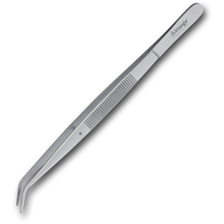 "6"" Competition Offset Tweezer, Stainless"