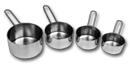 4 Pc. Measuring Cup Set, Stainless Steel