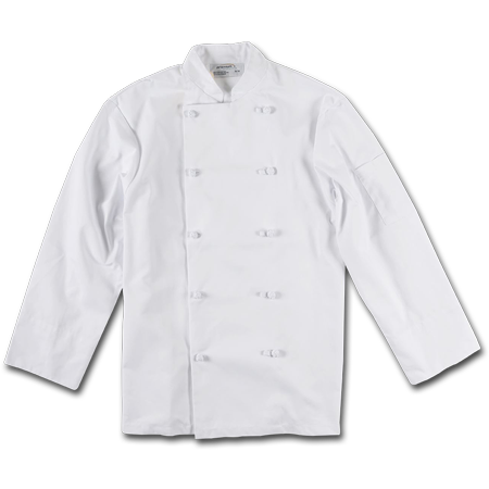 Chef Jackets with Knot Buttons, 65% Polyester/35% Cotton