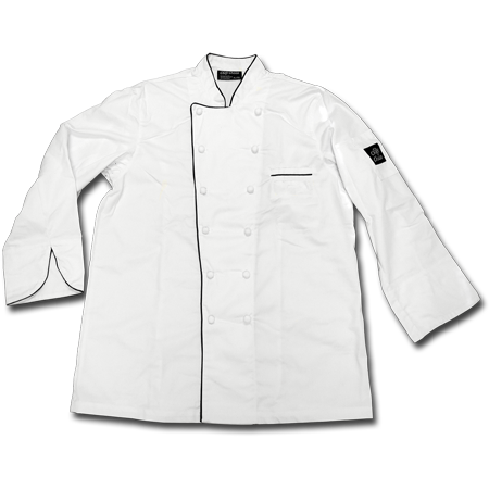 Master Chef Coat with Buttons, 65% Polyester/35% Cotton