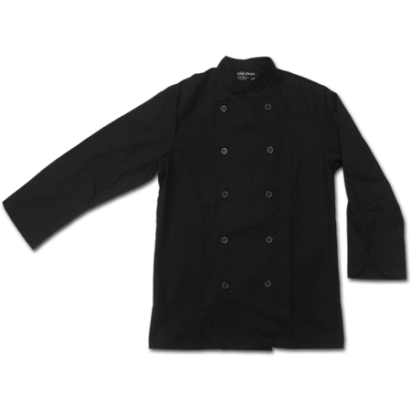 Chef Jacket with Buttons, 65% Polyester/35% Cotton
