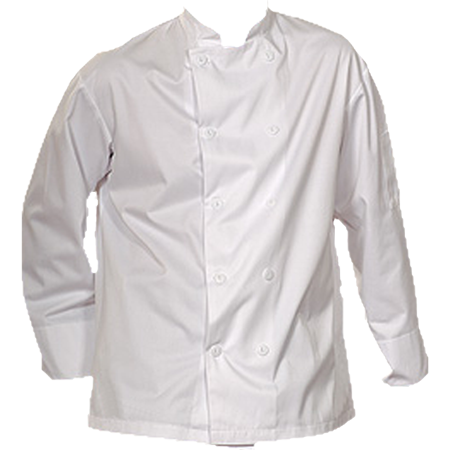 Chef's Jacket with Buttons, 100% Spun Polyester, CJ-5310